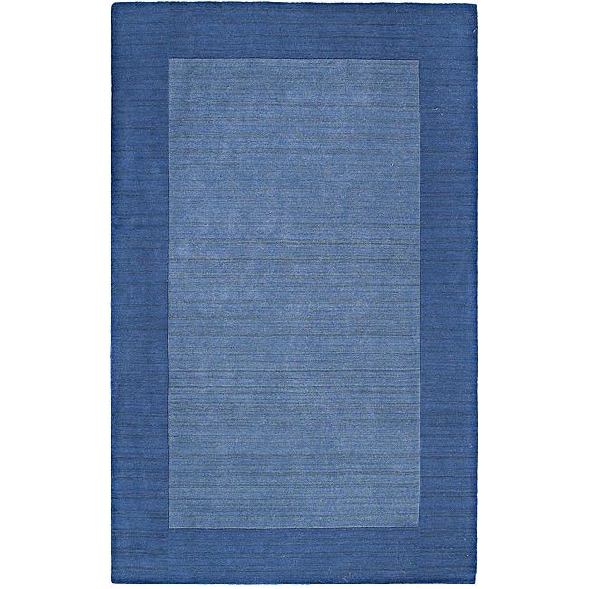 Regency Glacier Blue Wool Rug (5' x 7'9)