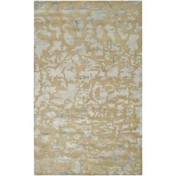Safavieh Handmade Soho Taupe/ Light Blue Grey New Zealand Wool Rug (7'6 x 9'6)