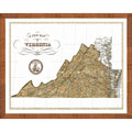 'Map of Virginia' Framed Print