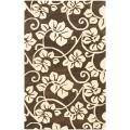 "Handmade Soho Brown/Ivory Floral New Zealand Wool Area Rug (7'6"" x 9'6"")"