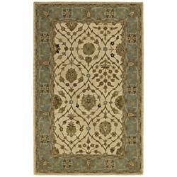 Handmade Khazana Ivory Jefferson Linen Wool Rug (7.6' x 9')
