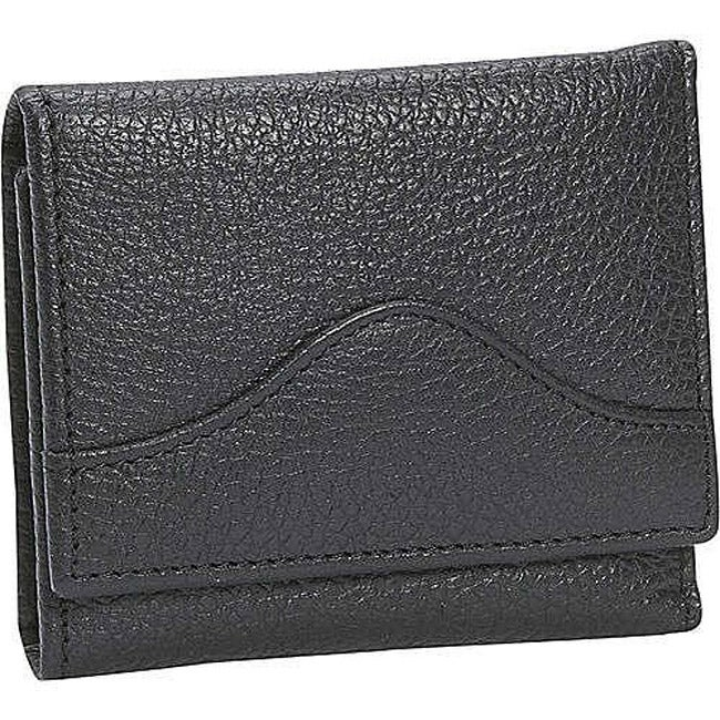 Leatherbay Black Leather Keychain Wallet