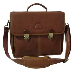 Amerileather World Class Brown Leather Executive Briefcase