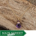 Rafia 14k Goldfill Amethyst Necklace