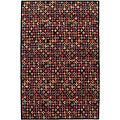Nepalese Hand-knotted Black Bottle Cap Wool Rug (2' x 3')