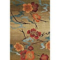 Nepalese Hand-knotted Kimono Gold Wool Rug (2' x 3')