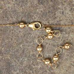 Plated Oval Bead 14k Goldfill Necklace
