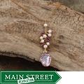 Goldfill 14-k Keshi Pearls and Rhodolite Garnet Necklace (3 mm)