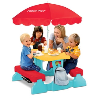Fisher Price Qwikfold Lunch 'N Munch Table with Umbrella