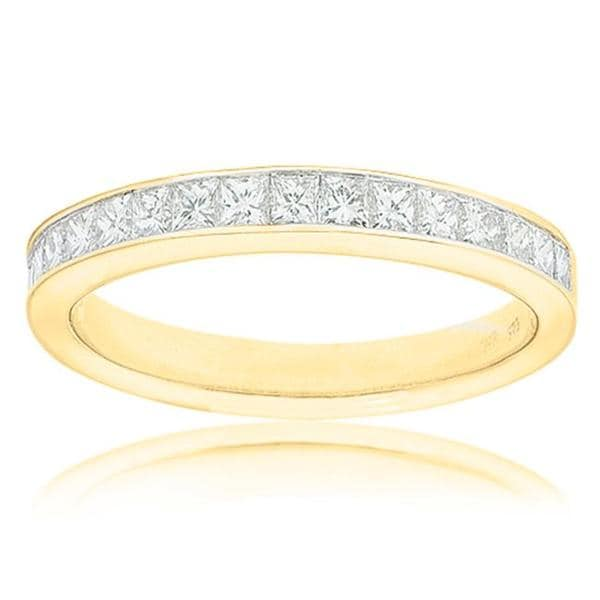 14k Yellow Gold 1/2ct TDW Certified Diamond Wedding Band (G-H, SI3-I1)