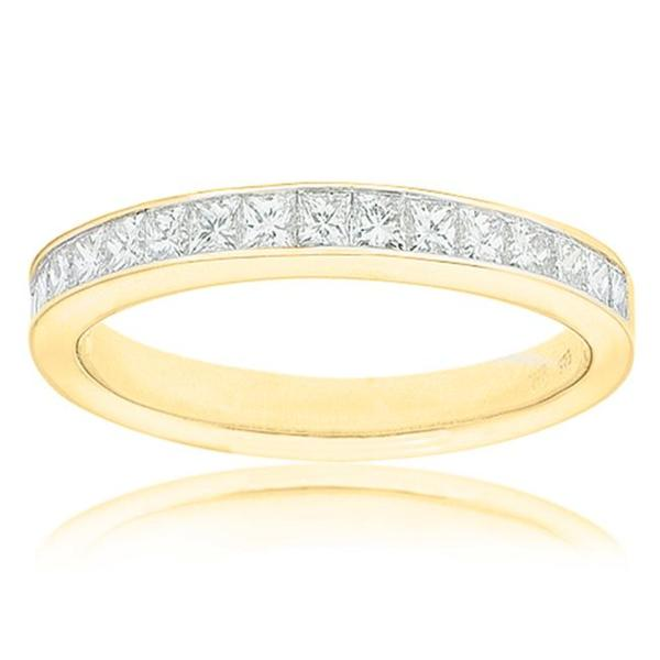 Montebello 14k Yellow Gold 1/2ct TDW Certified Diamond Wedding Band (G-H, SI3-I1)