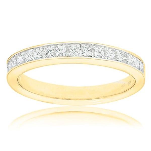 Montebello 14k Yellow Gold 1/2ct TDW Certified Diamond Wedding Band (G-H, SI3-I1)