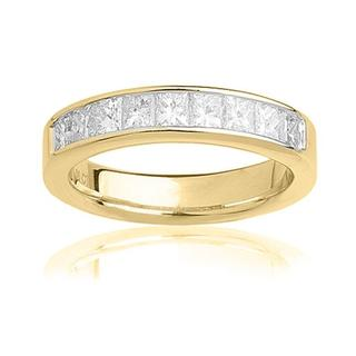 14k Yellow Gold 1ct TDW Certified Diamond Wedding Band (G-H, SI3-I1)