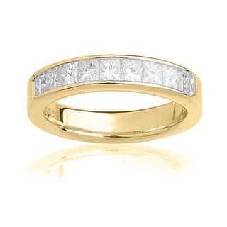 14k Yellow Gold 1ct TDW Certified Diamond Wedding Band (G-H, SI3-I1)