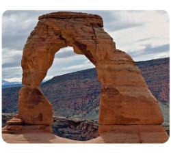 AD Publishing 'Utah Arches' Peel and Stick Mouse Pad