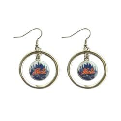 New York Mets Hoop Earrings