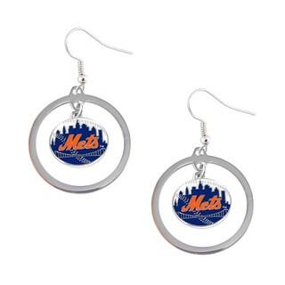 New York Mets Hoop Earrings