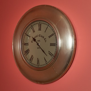 Metal White Wall Clock (India)