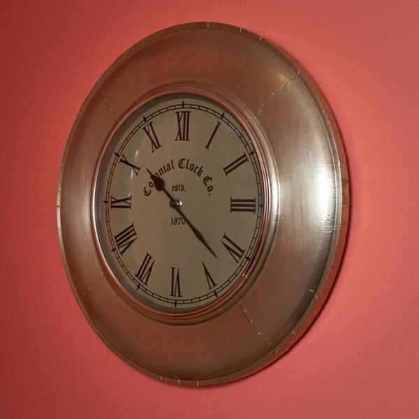Metal White Wall Clock (India)