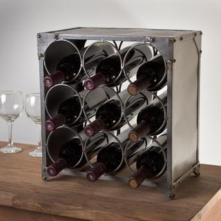 Steel 9-bottle Wine Rack (India)