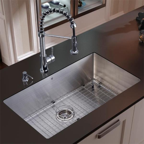 vigo stainless steel undermount kitchen sink faucet combo set 13494431. Black Bedroom Furniture Sets. Home Design Ideas