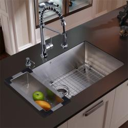 Vigo Stainless Steel Undermount Kitchen Sink and Faucet Combo Set