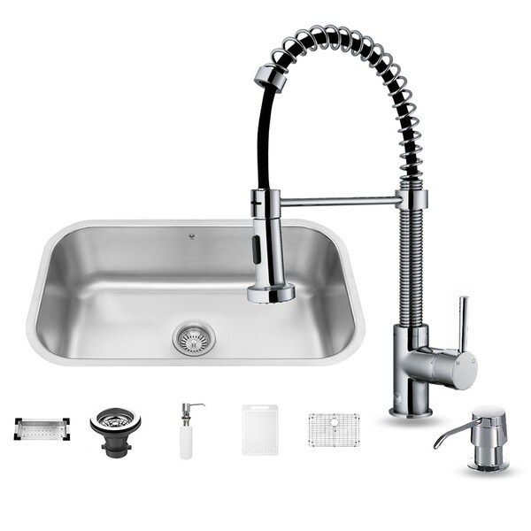 Vigo Stainless Steel Undermount Kitchen Sink and Faucet Combo Set