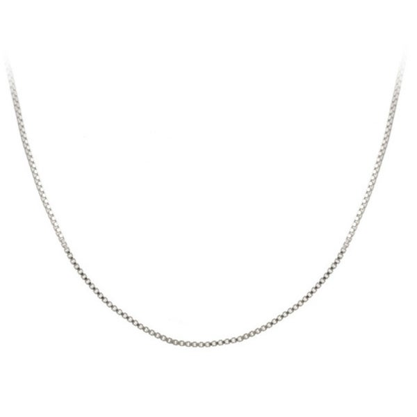 Mondevio Sterling Silver 18-inch Italian Box Chain Necklace