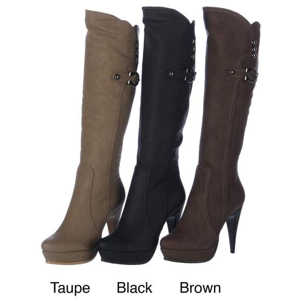 Ardiente Women's 'Fully Loaded' Faux Leather Boots