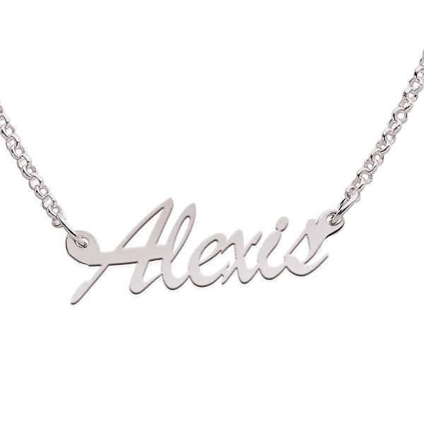 Sterling Silver Alexis Script Name Necklace