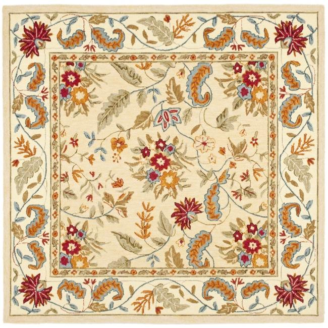Safavieh Handmade Paradise Ivory Wool Rug (8' Square)