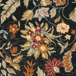 Safavieh Handmade Paradise Black Wool Rug (8' Square)