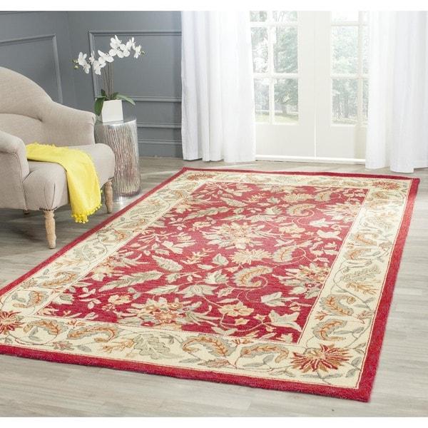 Safavieh Handmade Paradise Red Wool Rug (8' Square)