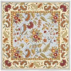 Safavieh Handmade Paradise Light Blue Wool Rug (8' Square)