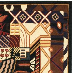 Safavieh Hand-hooked Chelsea Deco Multi Wool Rug (5'3 x 8'3)
