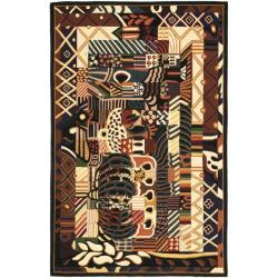 Hand-hooked Chelsea Deco Multi Wool Rug (5'3 x 8'3)