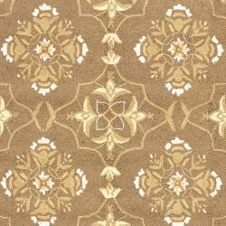 Safavieh Hand-hooked Chelsea Harmony Brown Wool Rug (6' x 9')
