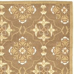 Hand-hooked Chelsea Harmony Brown Wool Rug (7'9 x 9'9)