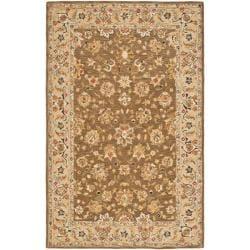 Mirco Hand-hooked Chelsea Kerman Brown Wool Rug (6' x 9')