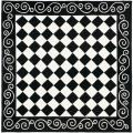 Hand-hooked Diamond Black/ Ivory Wool Rug (6' Square)