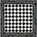Hand-hooked Diamond Black/ Ivory Wool Rug (8' Square)