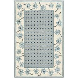 Hand-hooked Chelsea Resorts Blue Wool Rug (8'9 x 11'9)