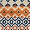 Hand-hooked Chelsea Southwest Multicolor Wool Rug (6' Square)