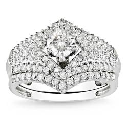 14k White Gold 1 1/6ct TDW Diamond Set (G-H, I1-I2)