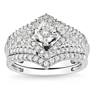 Miadora 14k White Gold 1 1/6ct TDW Diamond Set (G-H, I1-I2)