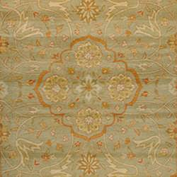 Indo Hand-tufted Green/ Beige Wool Rug (3' x 5')