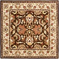 Safavieh Handmade Heritage Exquisite Brown/ Ivory Wool Rug (6' Square)