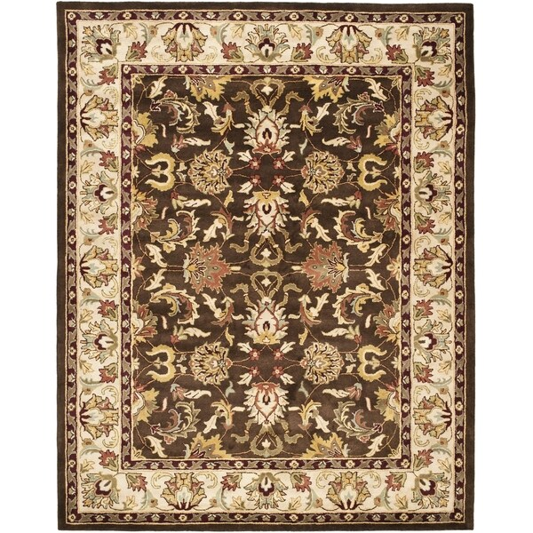 Safavieh Handmade Heritage Exquisite Brown/ Ivory Wool Rug (4' x 6')