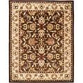 Safavieh Handmade Heritage Exquisite Brown/ Ivory Wool Rug (5' x 8')