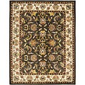 Safavieh Handmade Heritage Mahal Black/ Ivory Wool Rug (5' x 8')